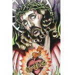 "CARA GRAND, Jesus | Acrylic ink, 2021, 9.5""x16"""