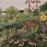 "SOPHIE HOLBROOK, Backyard Bliss | Acrylic on canvas, 2020, 4""x6"""