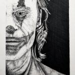 "KAM NEDDERMEYER, The Joker- Joaquin Phoenix | Ink pens & alcohol markers, 2021, 11""×14"""