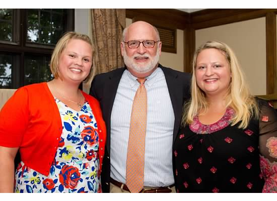 Tom Crook with daughters Emily Crook (left) and Hilary Crook (right)