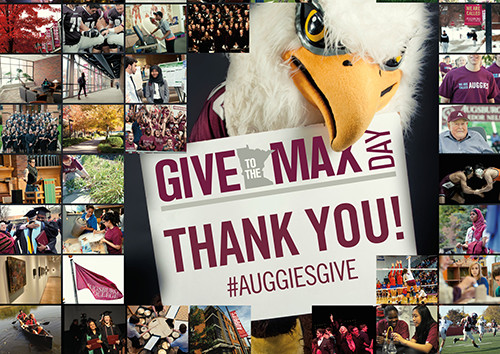 Give to the Max Day Auggie