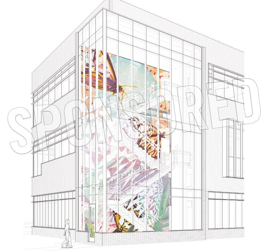 Emergence, glass stairway design by Greta McLain