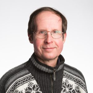 Scott D. Anderson in a Norwegian-style sweater