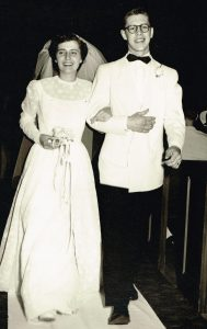 David and Edith Egertson on their wedding day