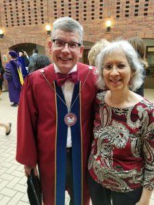 Linda Giacomo with President Pribbenow