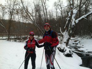 Jim and Brenda skiing