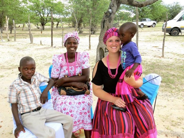 traditional African dress with host family