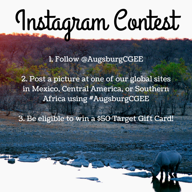 Enter the Instagram Photo Contest with #AugsburgCGEE