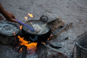 Traditional cooking style in rural Namibia
