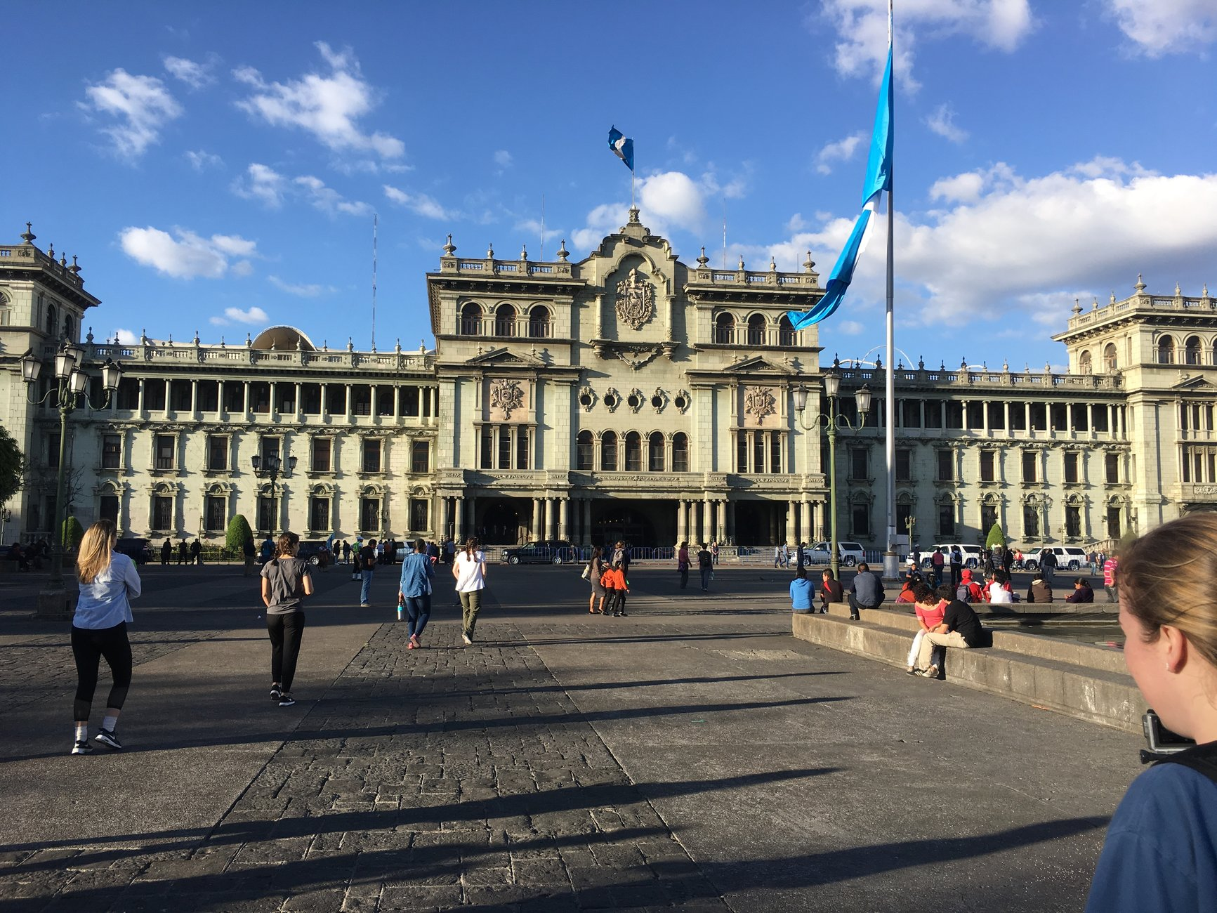 Government Building and Guatemalan Flag
