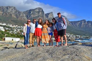 Students posing at Cape Town
