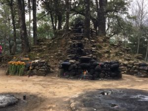 Guatemalan ruins for Mayan ceremony