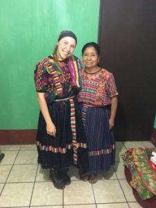 two women in traditional Guatemalan clothing