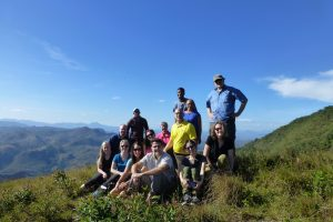 group on a hilltop in El Sontule, Nicaragua