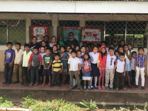 With some of the co-op community children.
