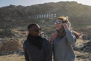 Two students traveling abroad