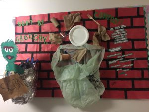 "Compost Board Mortensen Hall ""Don't be Grouchy Compost!"""