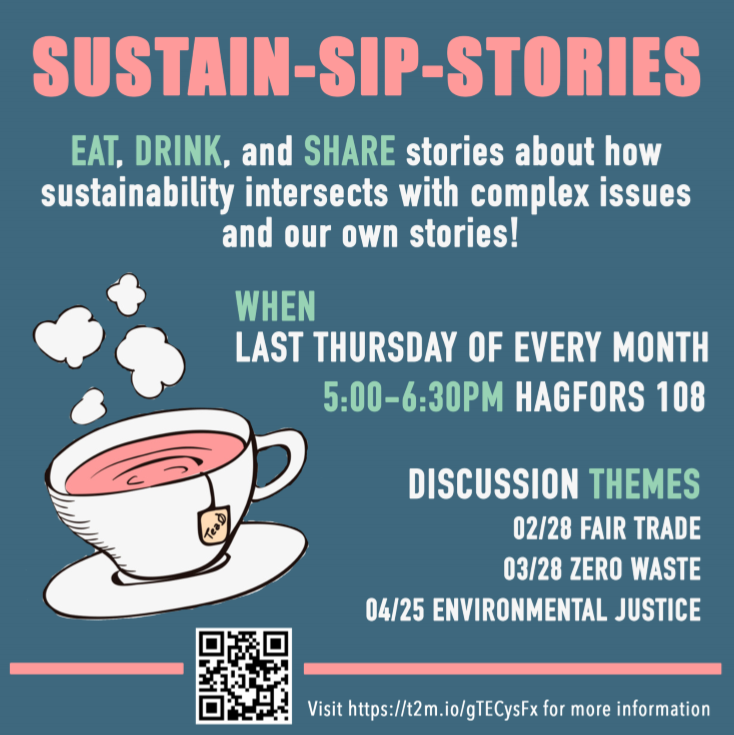 Sip-Sustain-Stories event poster