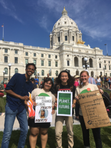 Augsburg students and staff at Global Climate Strike
