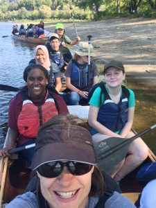 augsburg students on the river