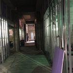 Hagfors Center basement hallway under construction