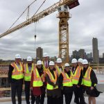 Regents Touring the Hagfors Center construction site October 14, 2016