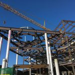Structural steel for suspended chapel