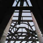 Structural steel for suspended chapel - view from below
