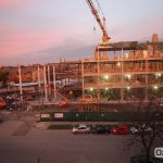 The Hagfors Center construction site at dawn on Monday, November 7.