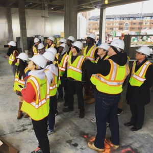 Student Government leaders tour the Hagfors Center
