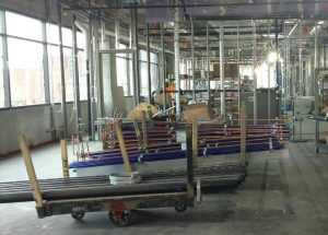 Future chemistry labs on the third level of the north wing.