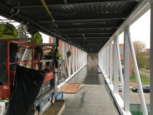 Skyway interior installations, May 1, 2017