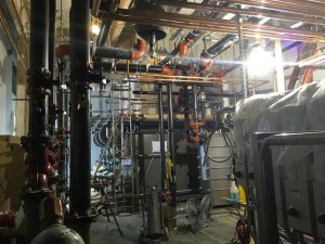 Interior view of the mechanical room.