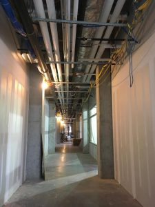 Interior corridor work.