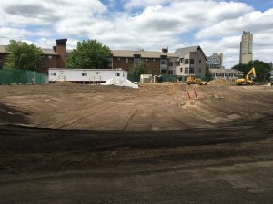 Storm water basin is taking shape