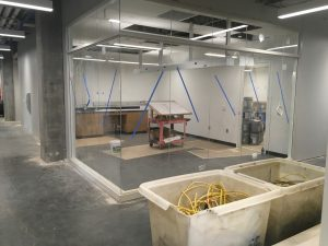 Fabrication lab with glass walls