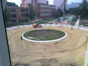 Roundabout before paving