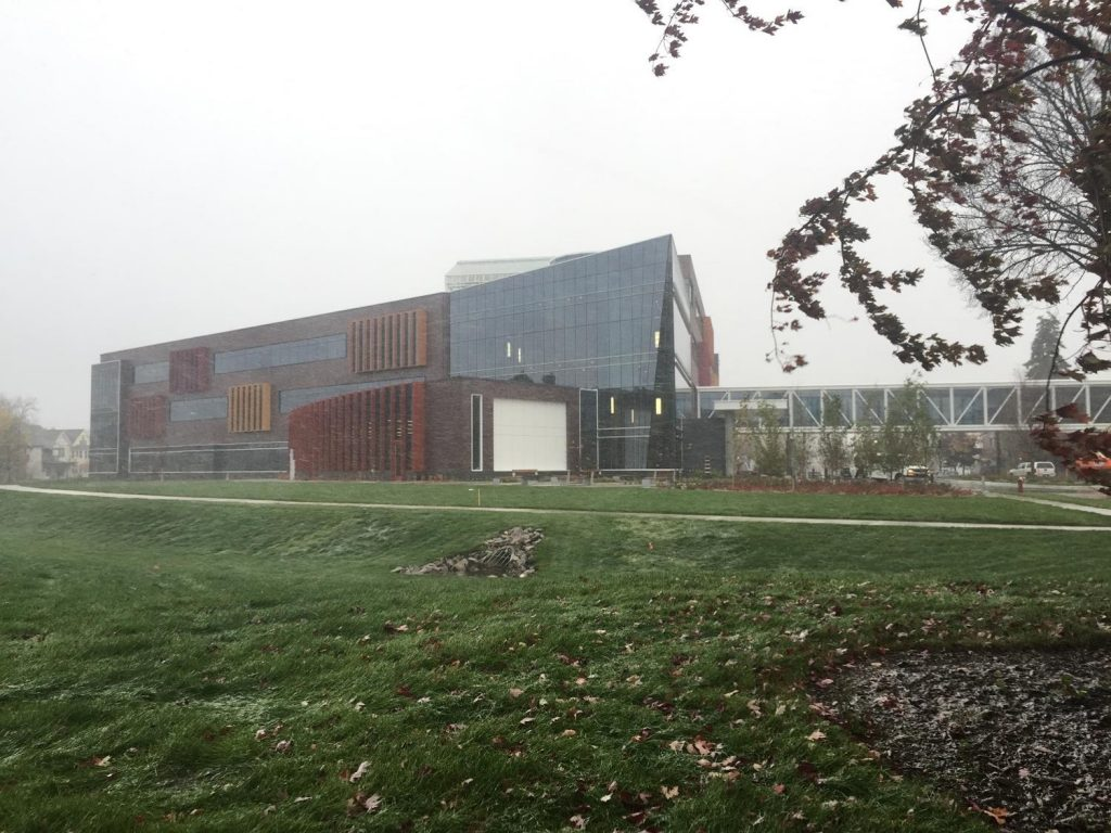 Hagfors Center and snow flurries