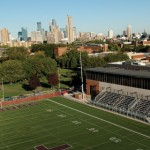 Edor Nelson Field and Minneapolis Skyline