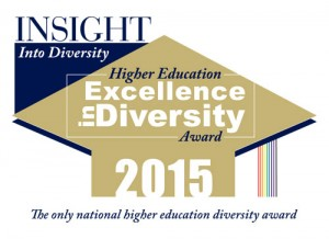 2015 Higher Education Excellence in Diversity Recipient. The only national higher education diversity award.