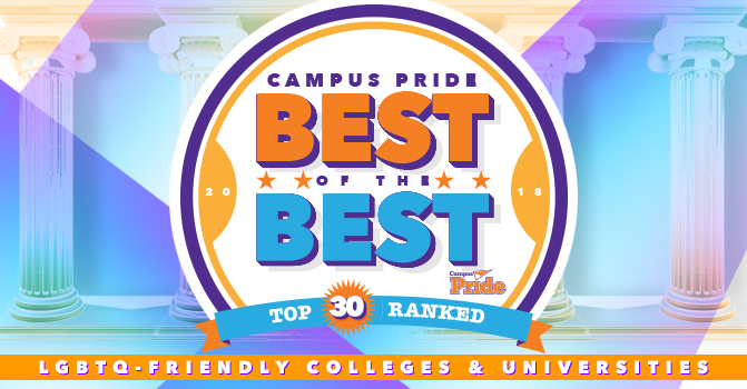 Campus Pride's 2018 Best of the Best