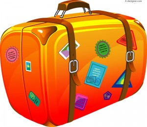 Cartoon-suitcase-vector-material-56284