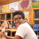 International Student poses at Fall Leadership Retreat.