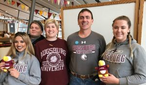 Exchange students, faculty and staff represent Augsburg at Study Abroad Fair in Norway.