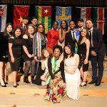 Students pose at International Student Banquet