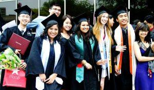 International students celebration graduation