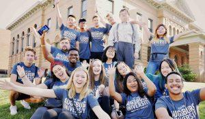 international student orientation group photo