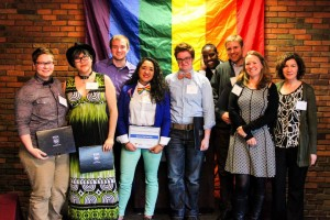 Recipients of the 2014-2015 LGBTQIA Awards at Lavender Celebration