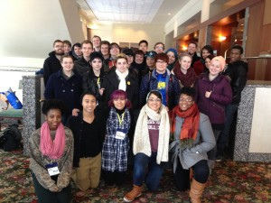 Students at the Midwest Bisexual Lesbian Gay Transgender Ally College Conference in 2014