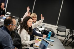 Augsburg MBA students in classroom